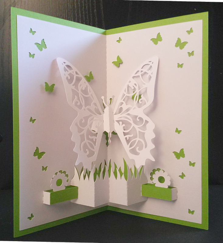une carte pop up papillons. Black Bedroom Furniture Sets. Home Design Ideas